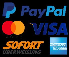 Zahlung per Kreditkarte und SOFORT Überweisung